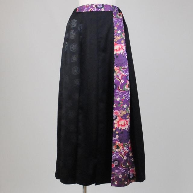 gouk侍 袴風メンズプリーツスカート GGD25-S826 BK-PUR/MM