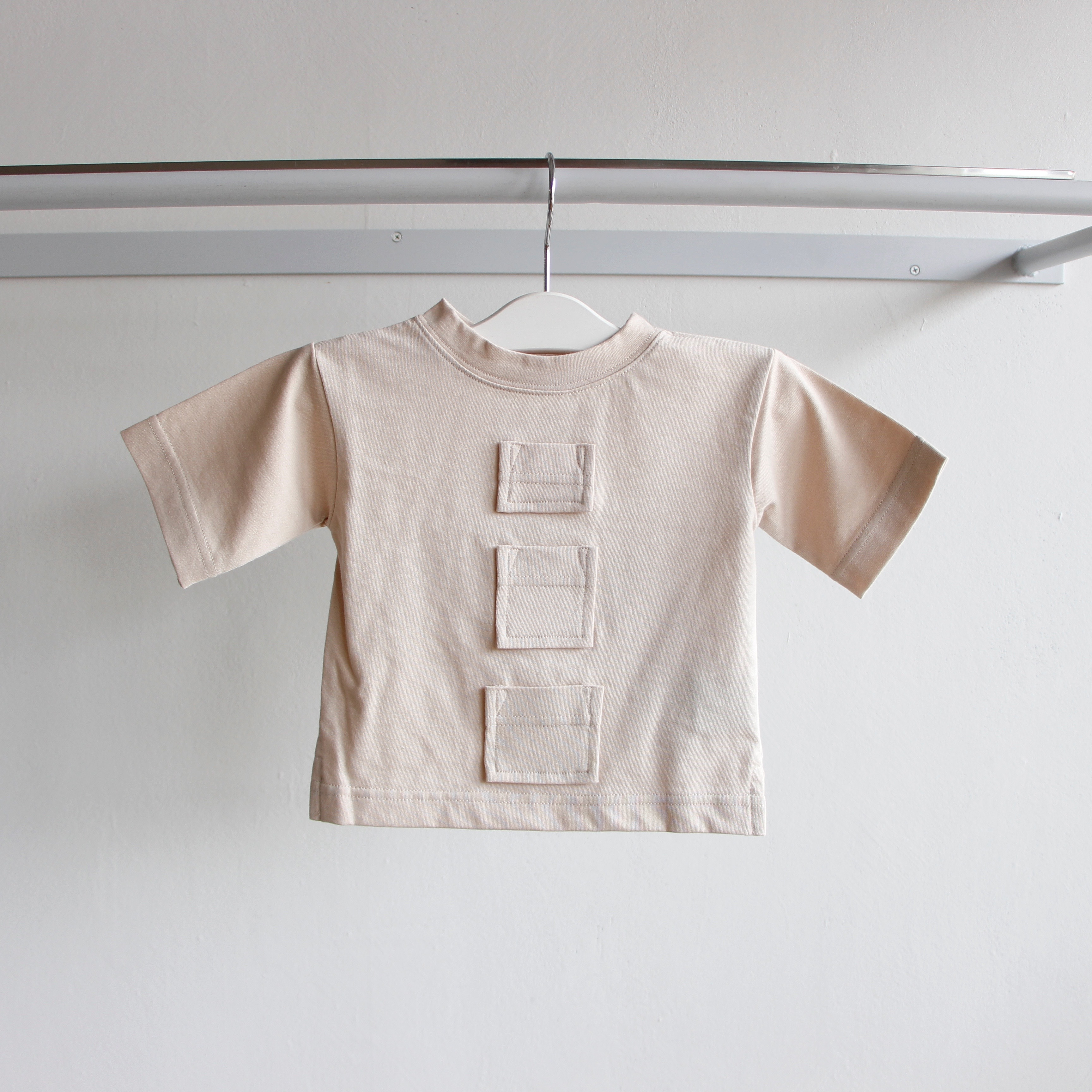 《UNIONINI 2019SS》many pockets tee / beige