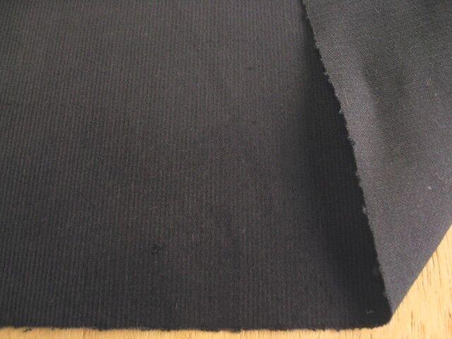 綿ストレッチコーデュロイ ブラック CTN-0160