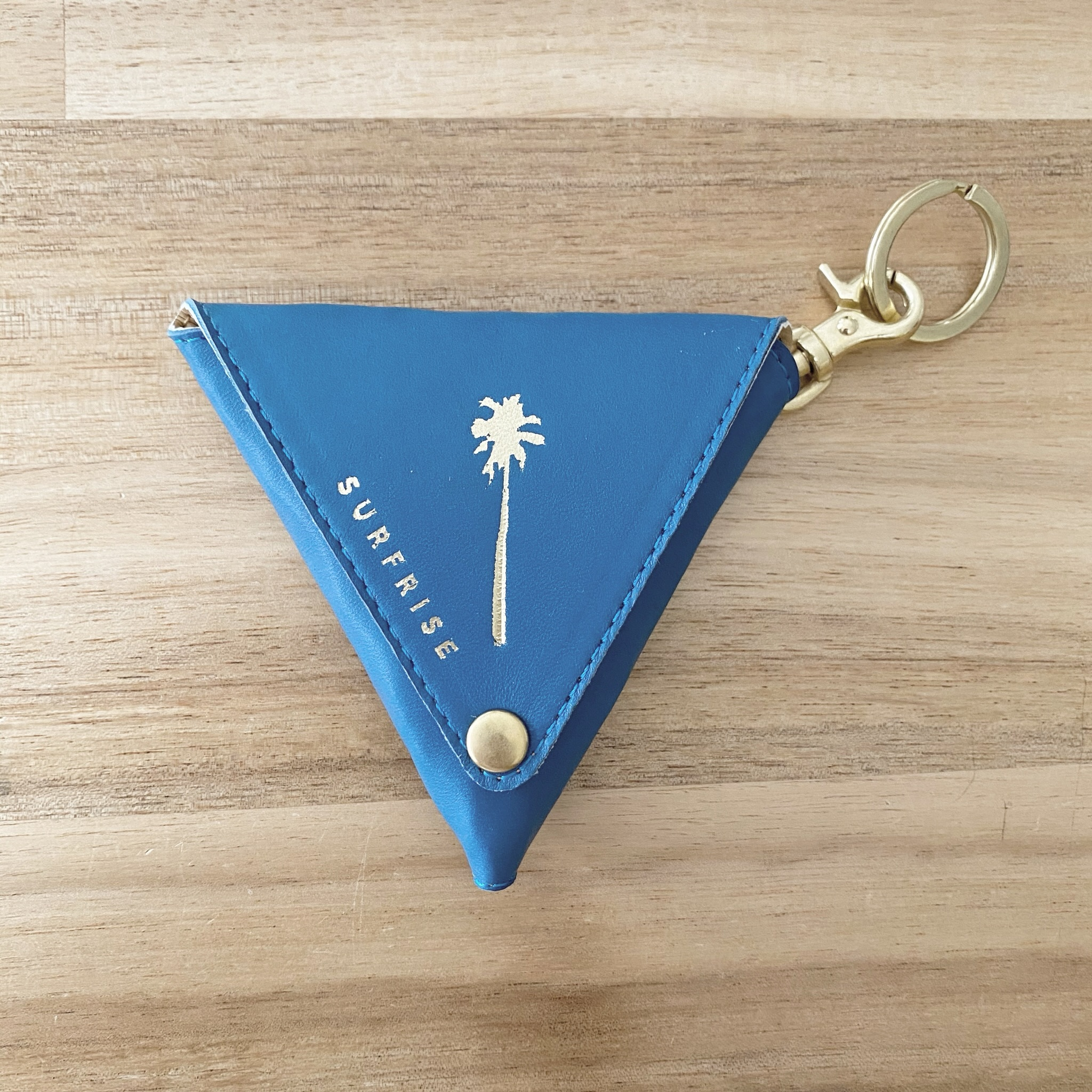 Triangle coin case - Jay Blue
