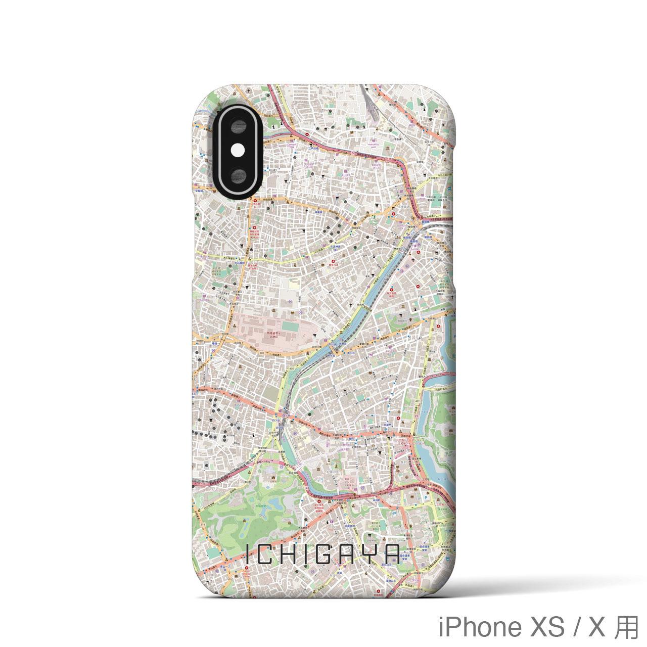 【市ケ谷】地図柄iPhoneケース(バックカバータイプ・ナチュラル)
