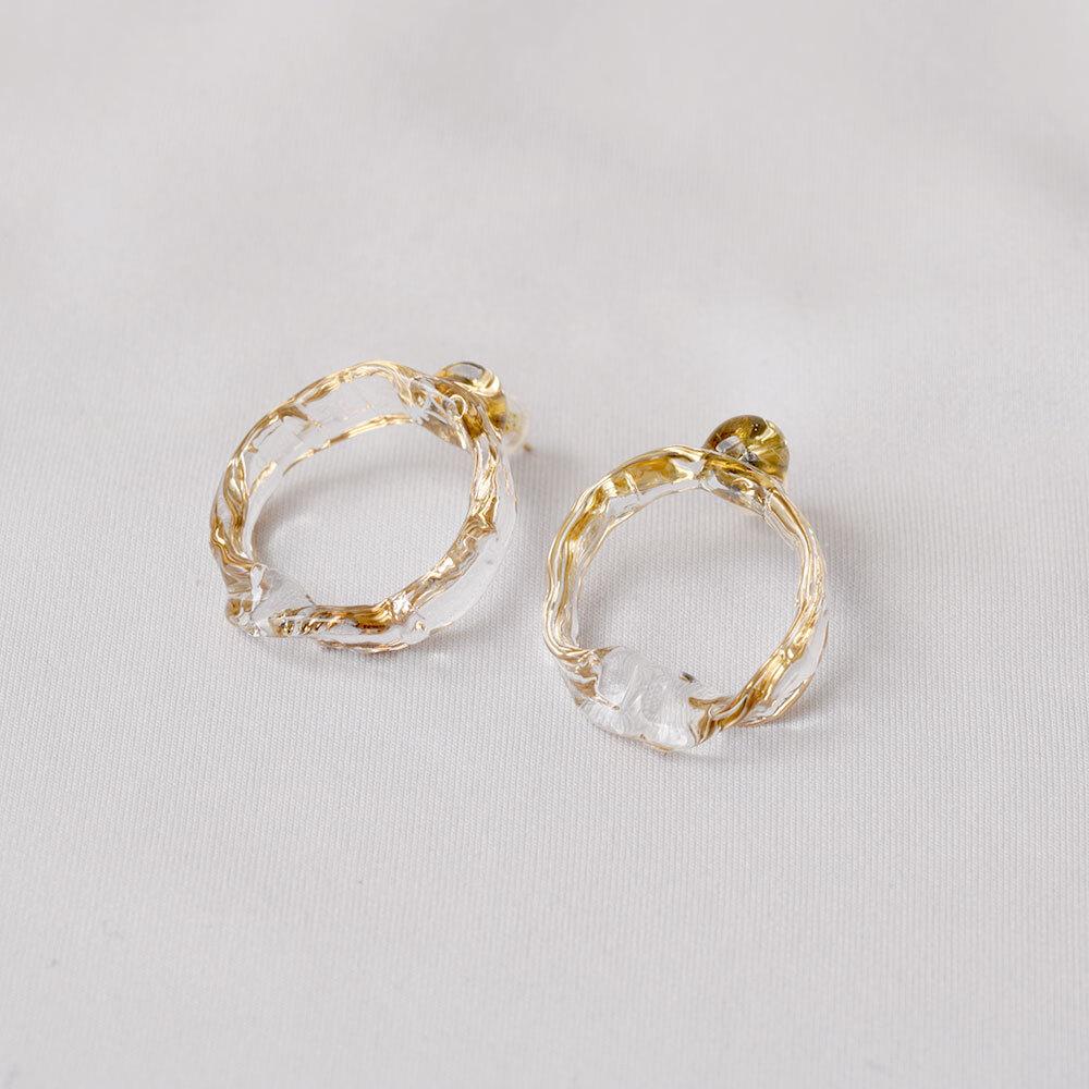 mobius pierce gold (pair)