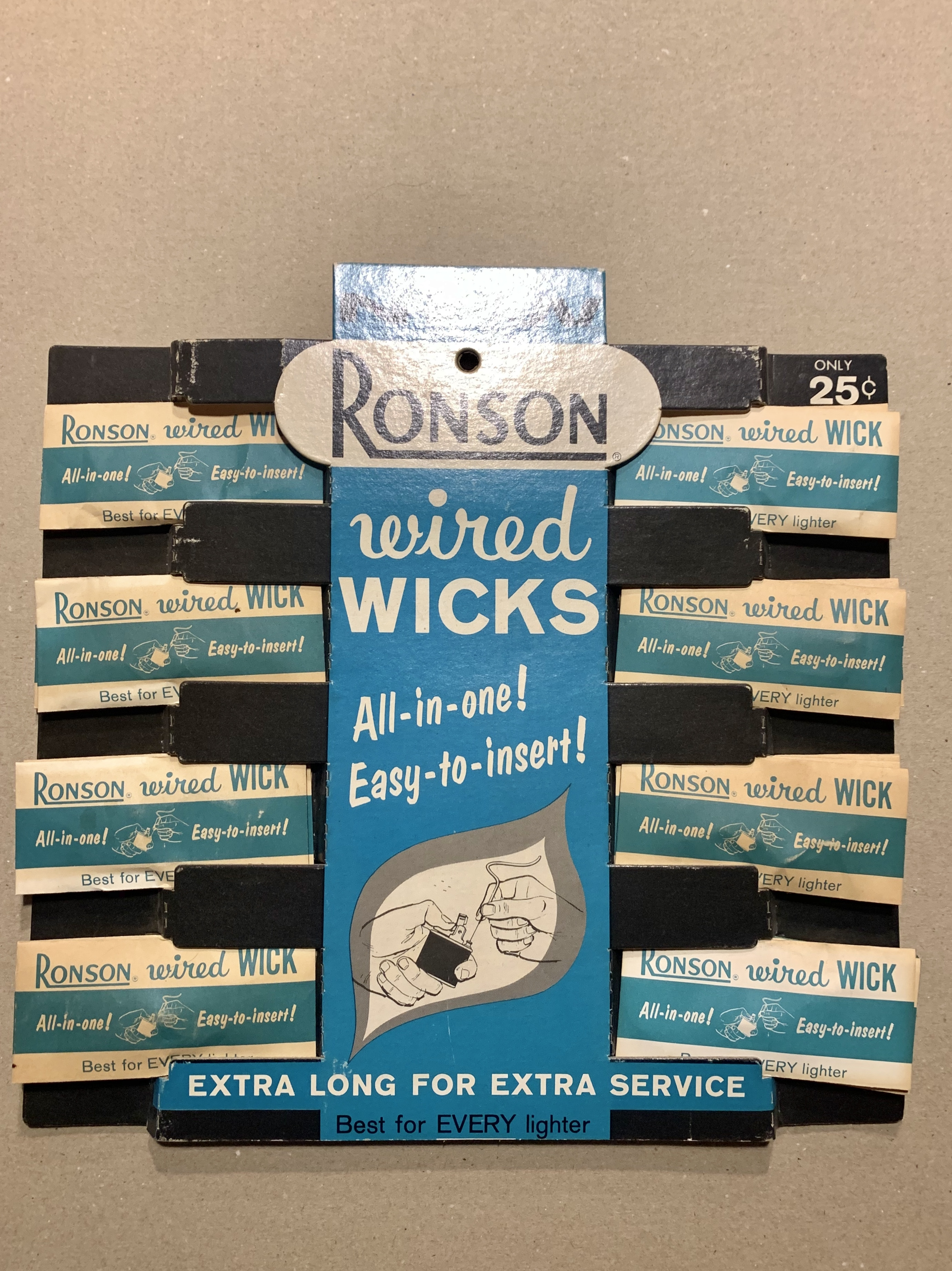 Antique Display Bord 〝Robson wire wicks〟ロンソン ライターディスプレーボード