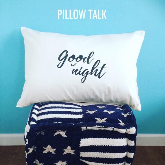 Good night PILLOW CASE [WHITE]