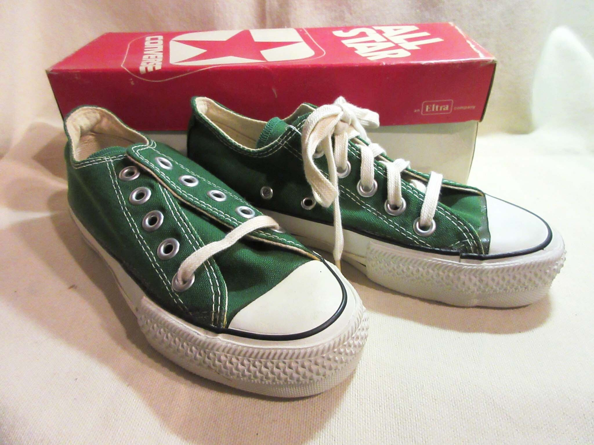70-80's CONVERSE ALL STAR / MEN'S CANVAS HI  Dead Stock  MADE IN USA