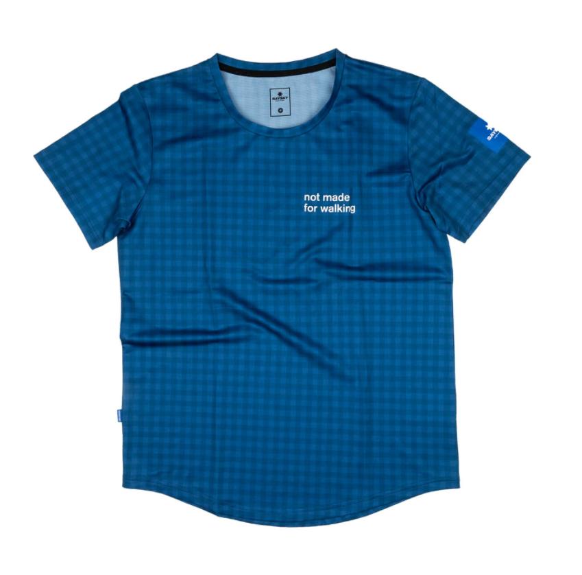 【NEW!】SAYSKY セイスカイ ランニングTシャツ Checker Combat Tee - BLUE CHECKERBOARD [ユニセックス] FMRSS01