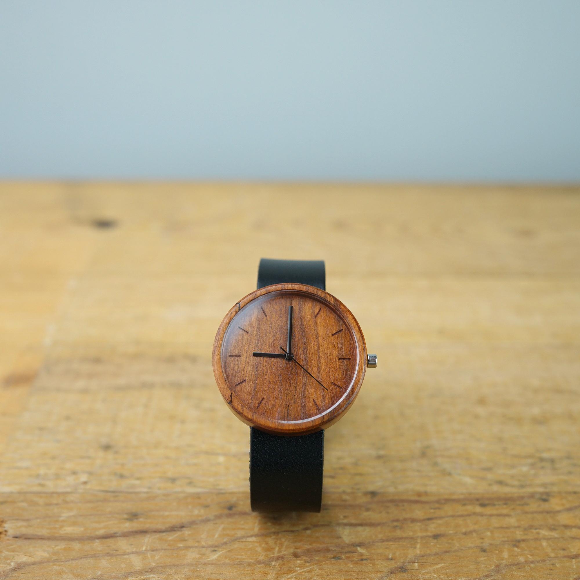 Cherry wood - Organic leather - L (Line Ver.)