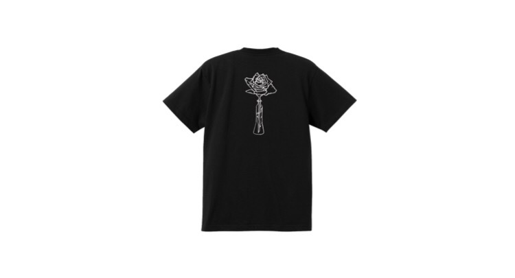 coguchi Rose T-shirts (BLK)