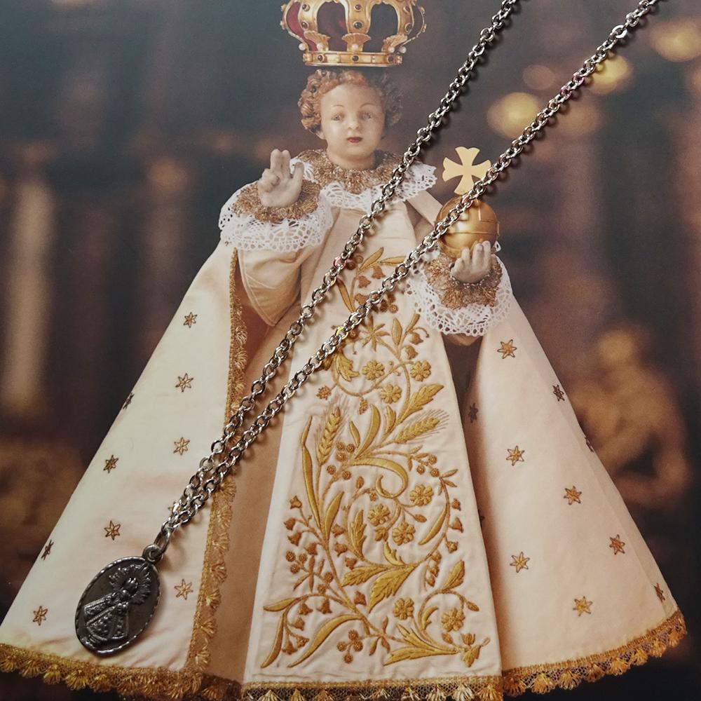 チェコ 幼子イエスのお守りネックレス&カードセット / シルバー
