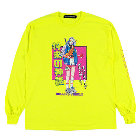 ROLLING CRADLE(ロリクレ) | KAWAII GIRL LONG SLEEVE (Neon-Yellow)