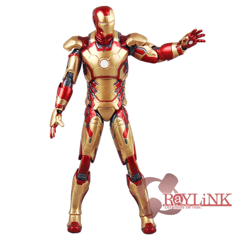【国内未発売品】「アイアンマン」マーク42 アクションフィギュア 7インチ 映画アイアンマン3