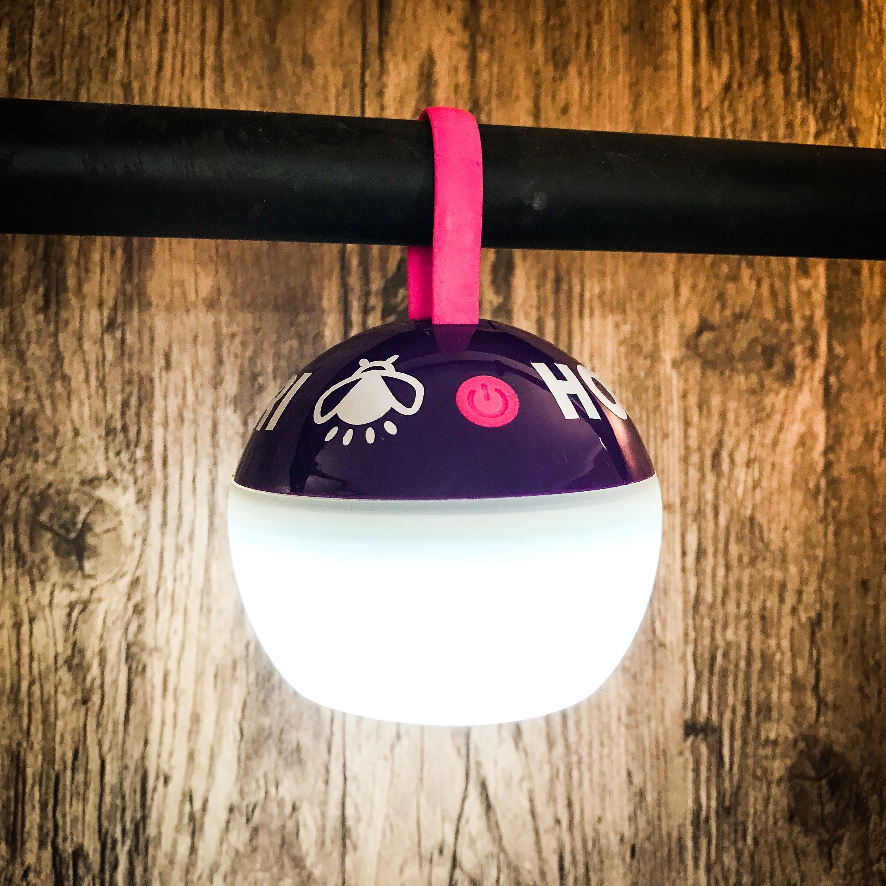 ホタルノオシリ LEDランタン 紫ピンク