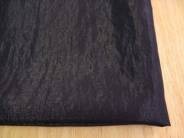 シルク・ワッシャータフタ(織物)フォーマル用 ブラック(真っ黒) CTM-0100