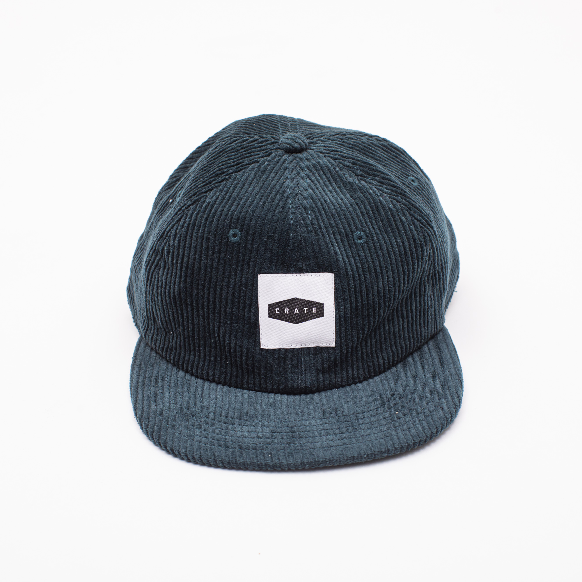 CRATE BOX PATCH CORDUROY CAP GREEN