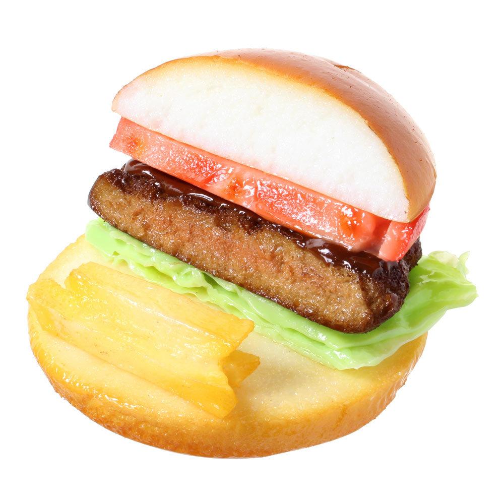[9007]食品サンプル屋さんのスマホスタンド(ハンバーガー)【メール便不可】