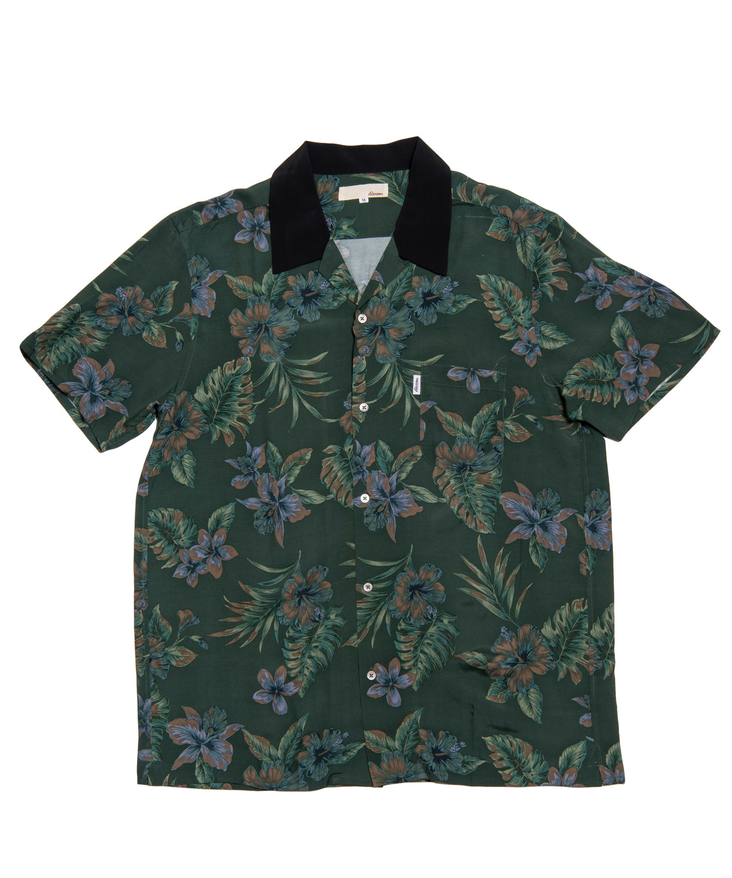 DARK BOTANICAL ALOHA SHIRTS[RES020]