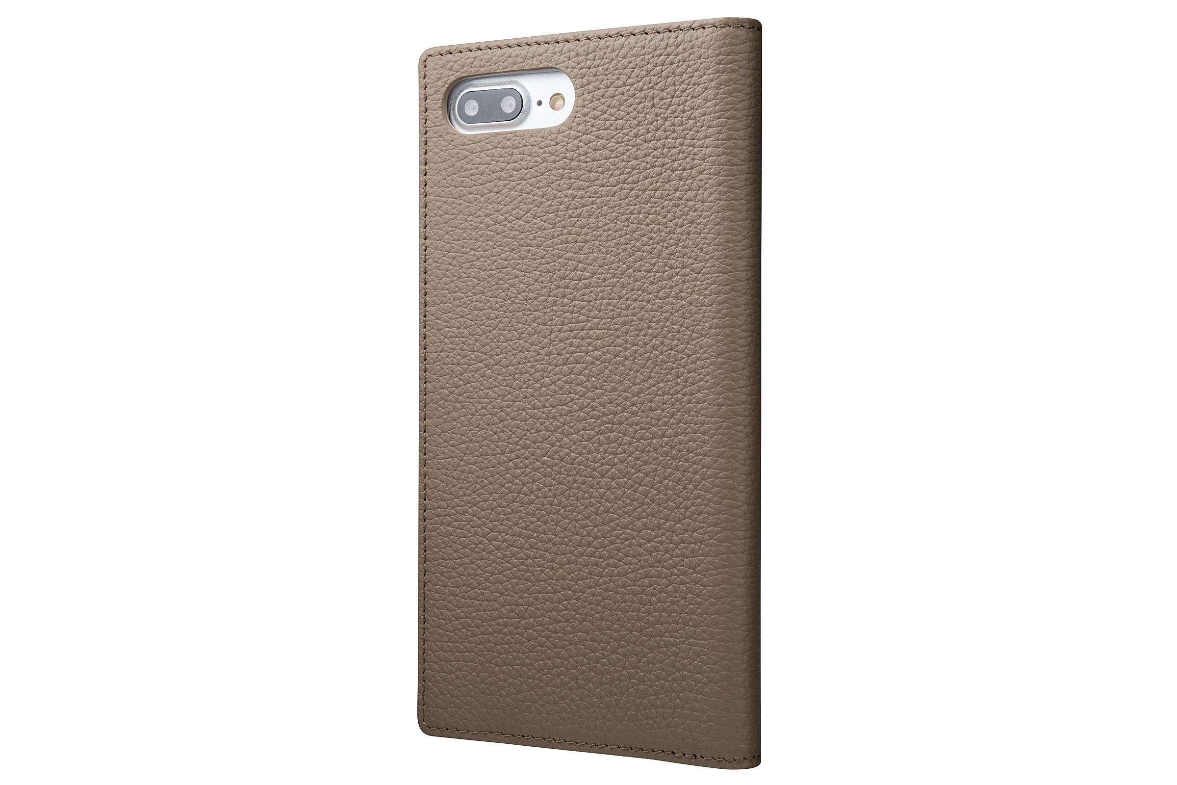 GRAMAS Shrunken-calf Full Leather Case for iPhone 7 Plus(Taupe(トープ)) シュランケンカーフ 手帳型フルレザーケース - 画像2