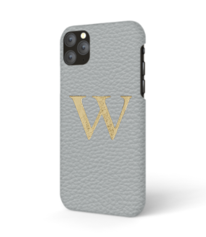iPhone Premium Shrink Leather Case (Ice Grey)