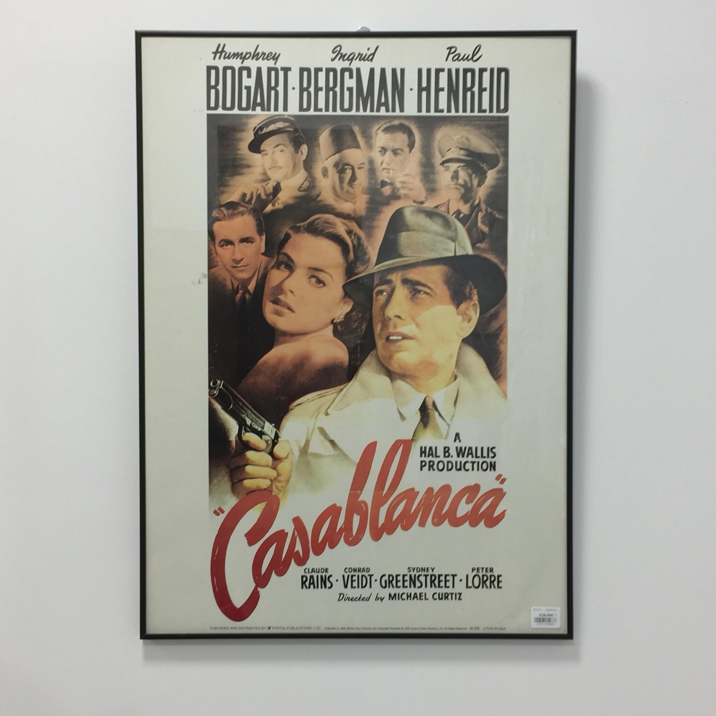 品番2666 カサブランカ Casablanca 映画 ポスター フレーム付 ヴィンテージ 011