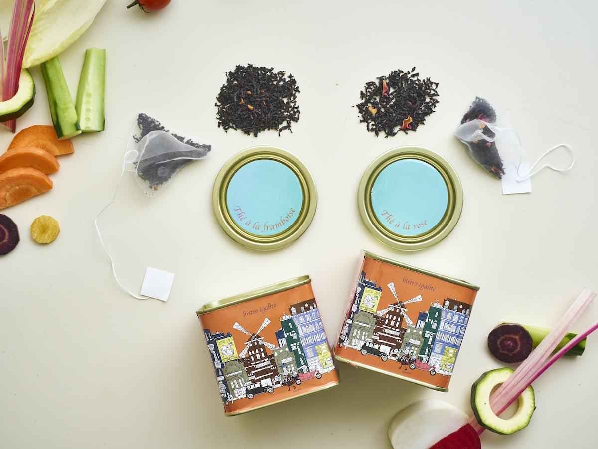 【配送可能】薔薇とフランボワーズの紅茶2缶セット