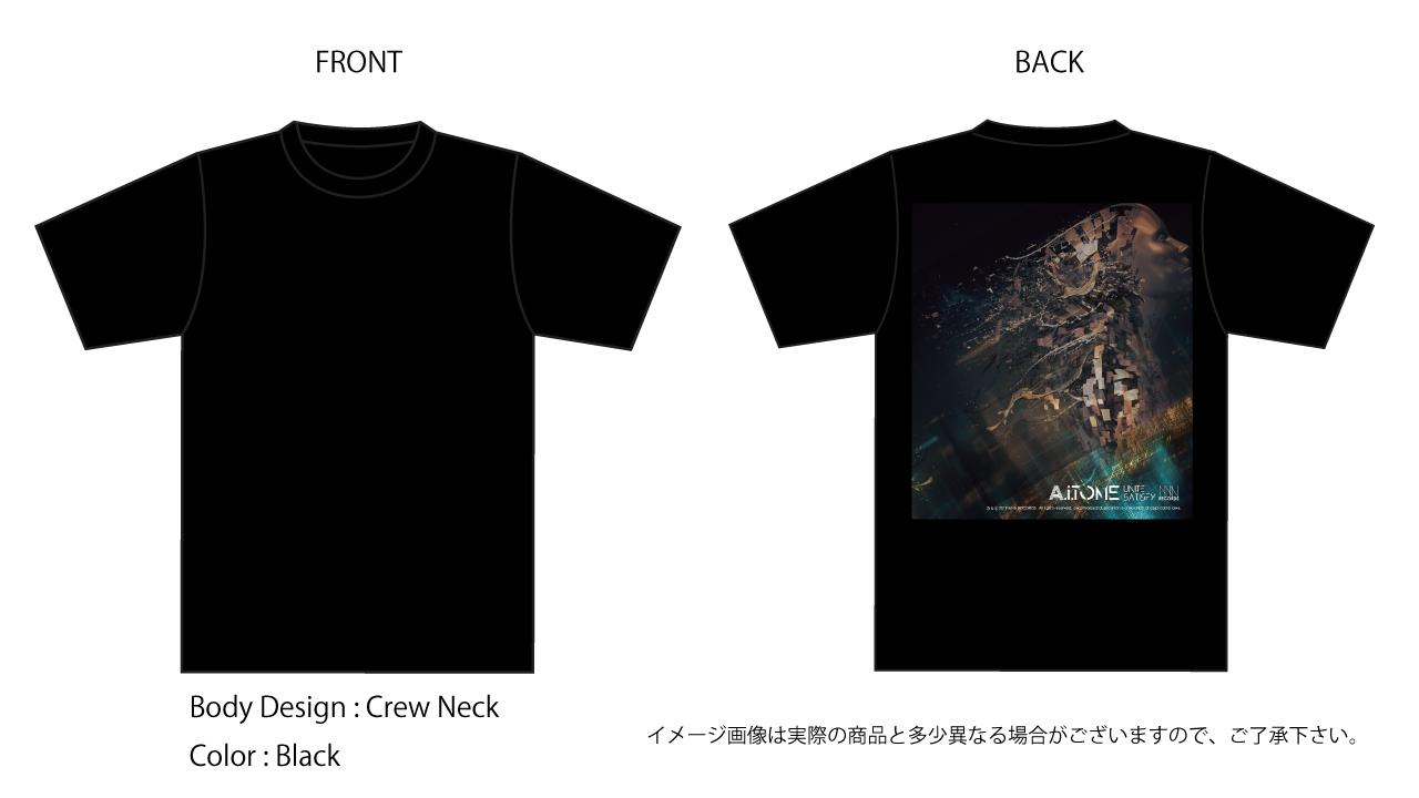 A.i.TONE / UNITE SATISFY オフィシャルTシャツ(BK) 国内送料200円