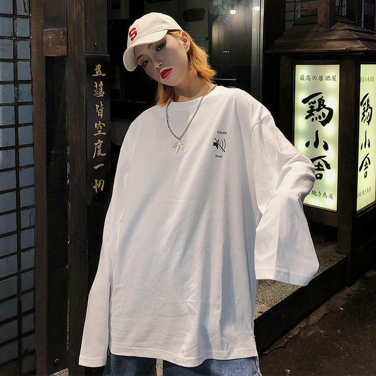 【送料無料】 メンズライクコーデに♡ ルーズ オーバーサイズ ロングTシャツ ロンT ユニセックス ゆるだぼ