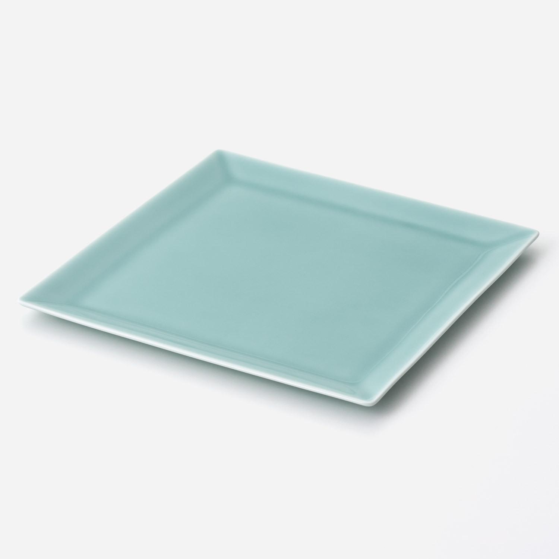青磁 スクエアプレート皿