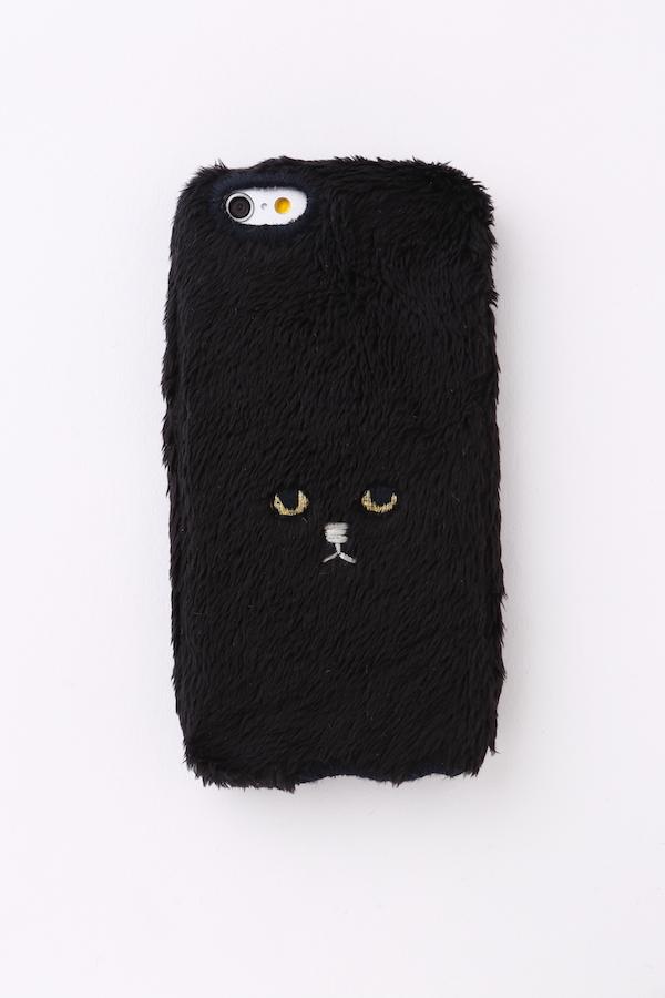 【iPhone7&iPhone6/6S対応】ネコiPhoneカバー【ブラック】