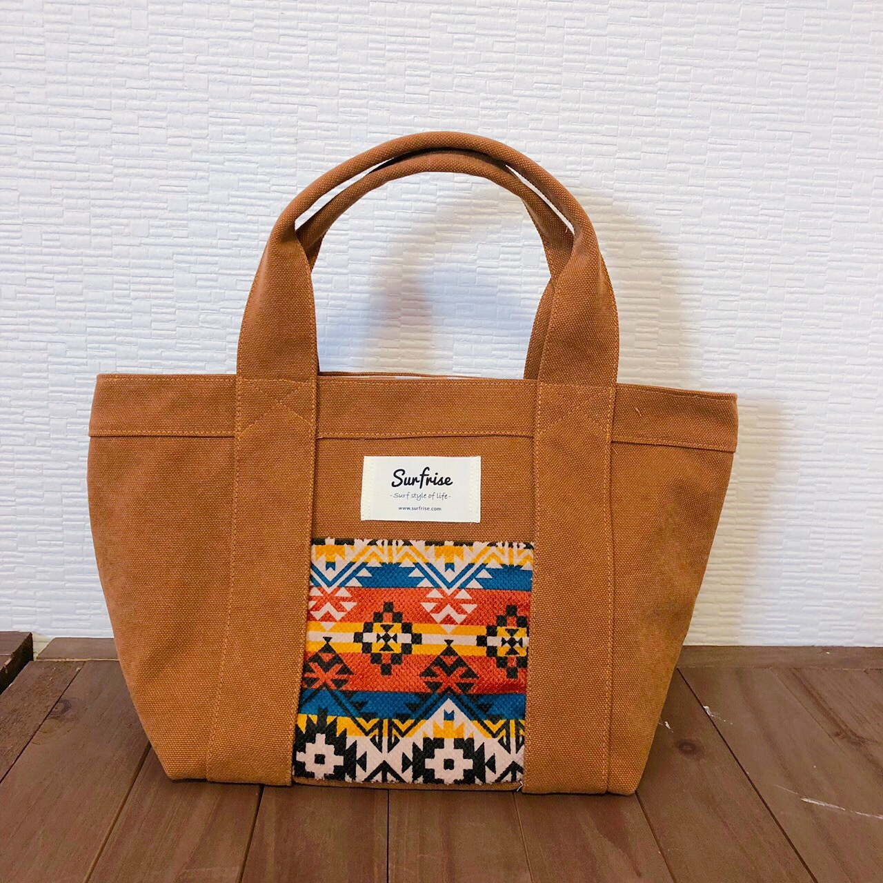 Camel camp tote bag S - Orange