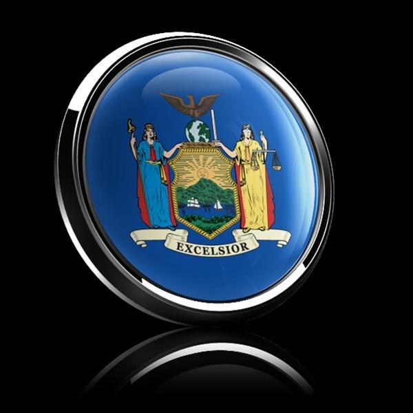 ゴーバッジ(ドーム)(CD0592 - FLAG NEW YORK US STATE) - 画像2