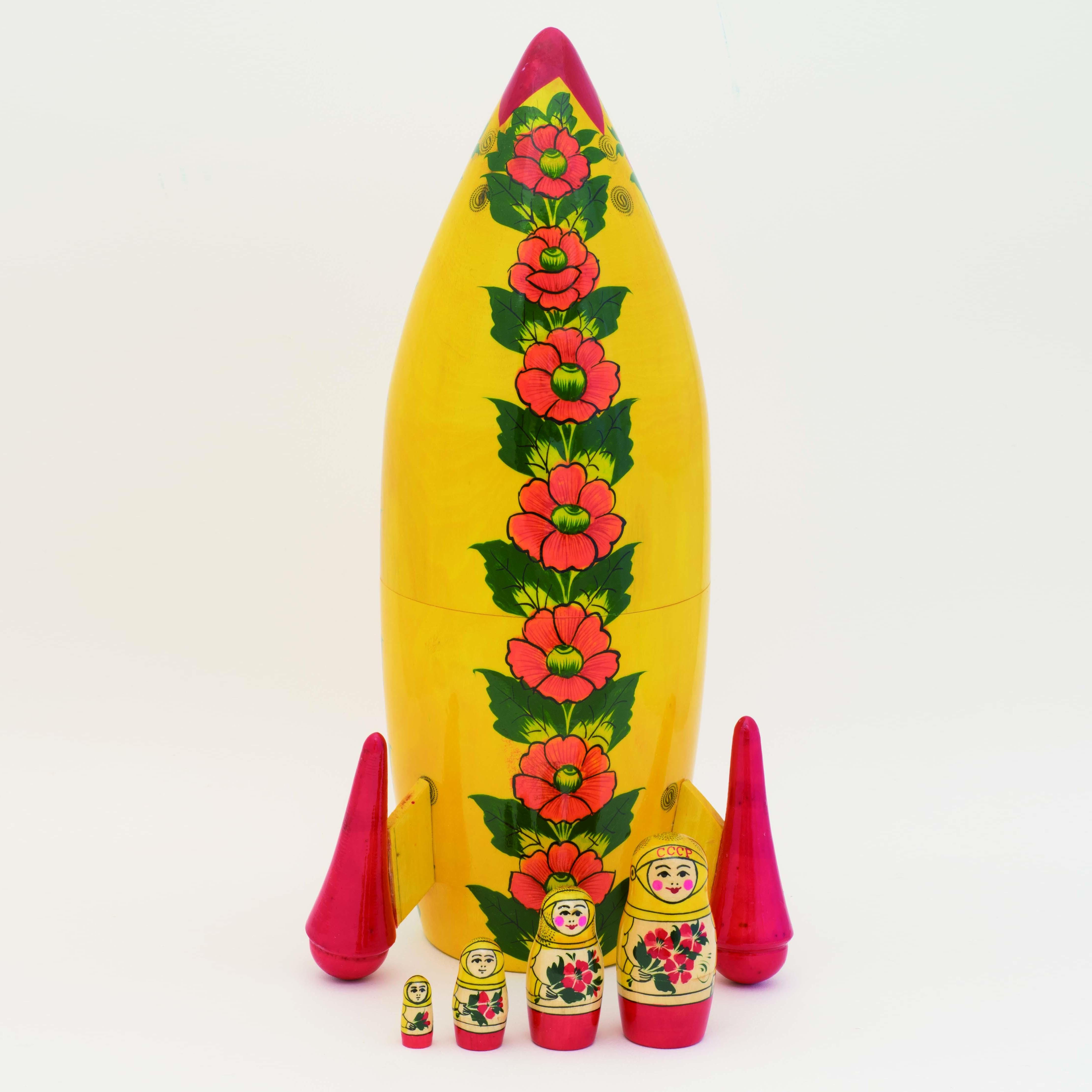 特大!ロケットマトリョーシカ5ピース( B )