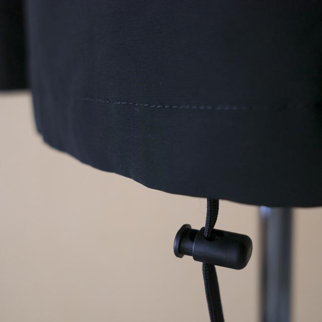 TRAVAIL MANUEL トラバイユマニュアル N/Cグログラン ボタンパーカー:ブラック