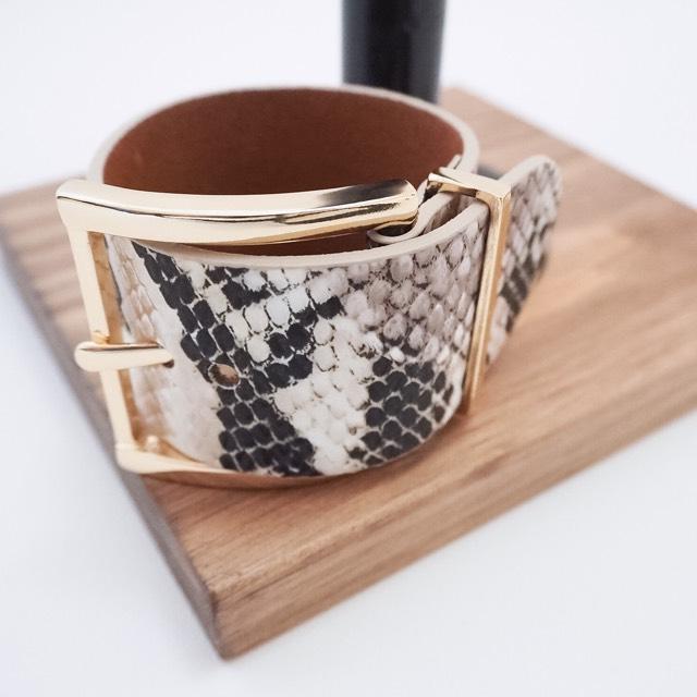 python belt bangle