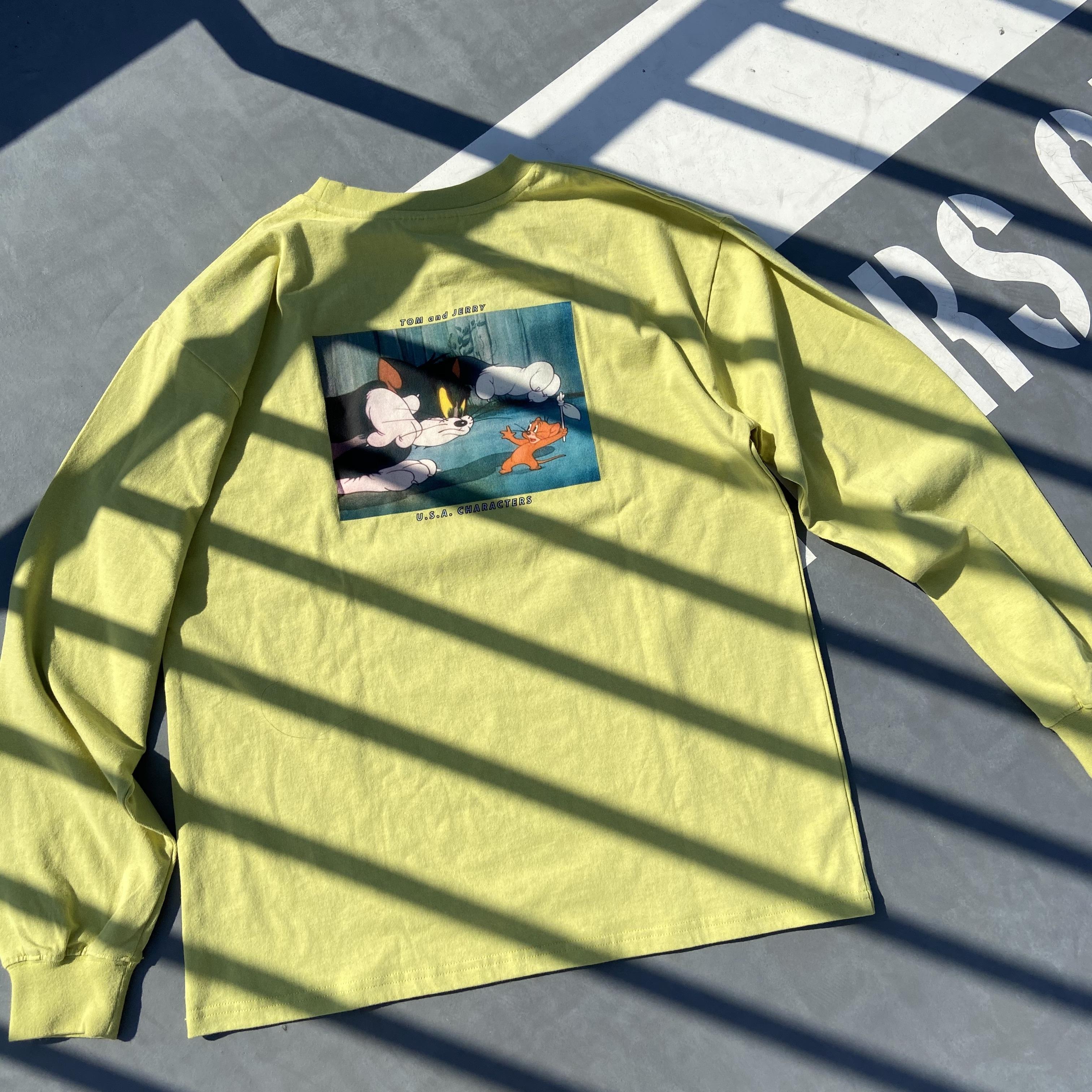 トム&ジェリーバックプリントロングスリーブTシャツ NO0715002