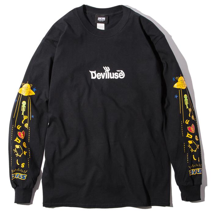 Deviluse(デビルユース) | UFO L/S T-shirts(Black)
