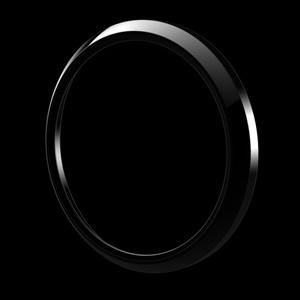 ゴーバッジ グリルバッジホルダー交換用リング(黒) - 画像1