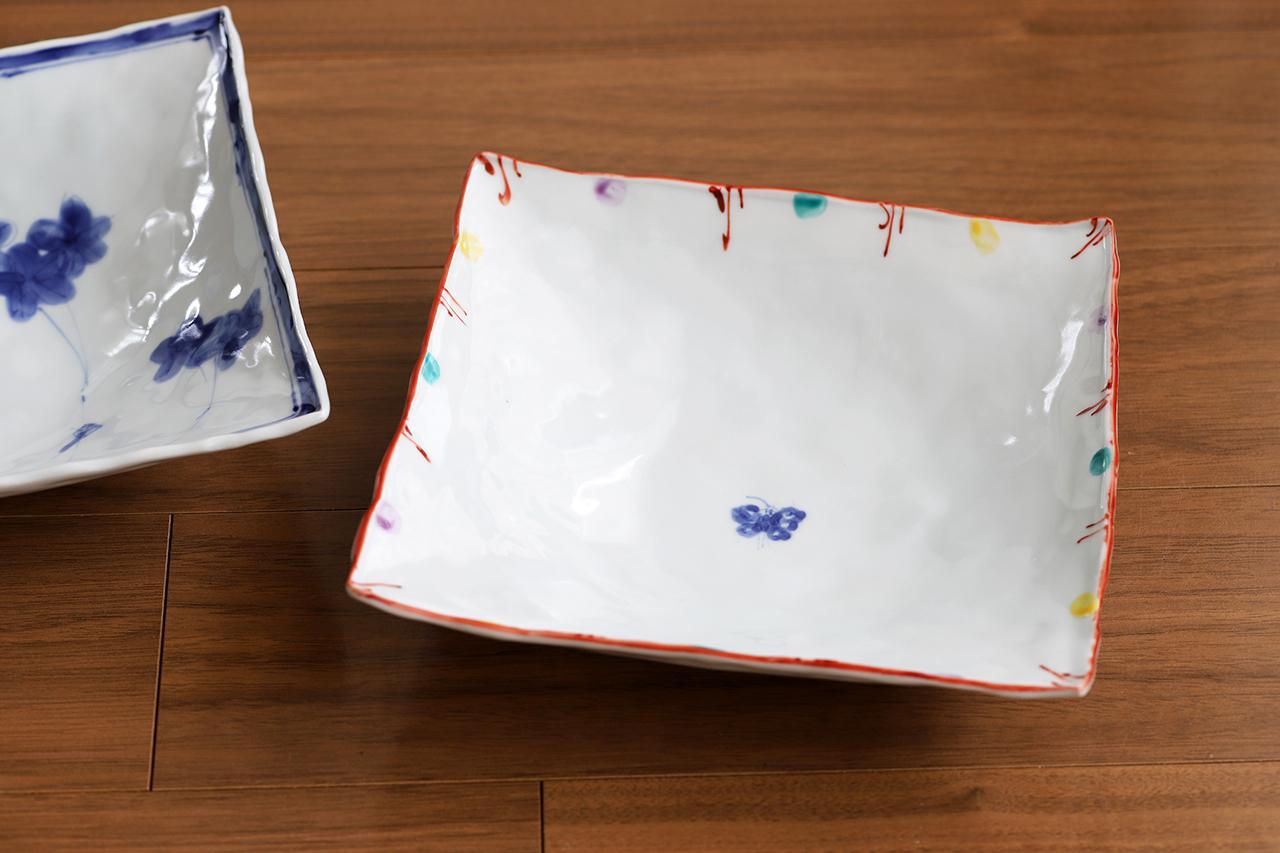 松尾貞一郎 6寸角鉢 約18cm角 200519-K3 貞土窯(有田焼)