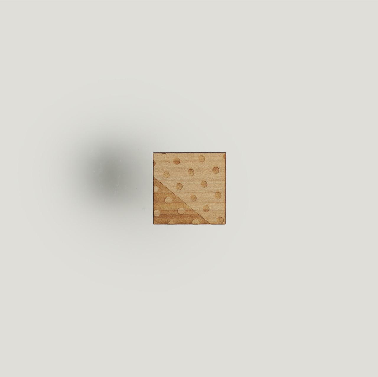 brooch square dot / しかくドットブローチ