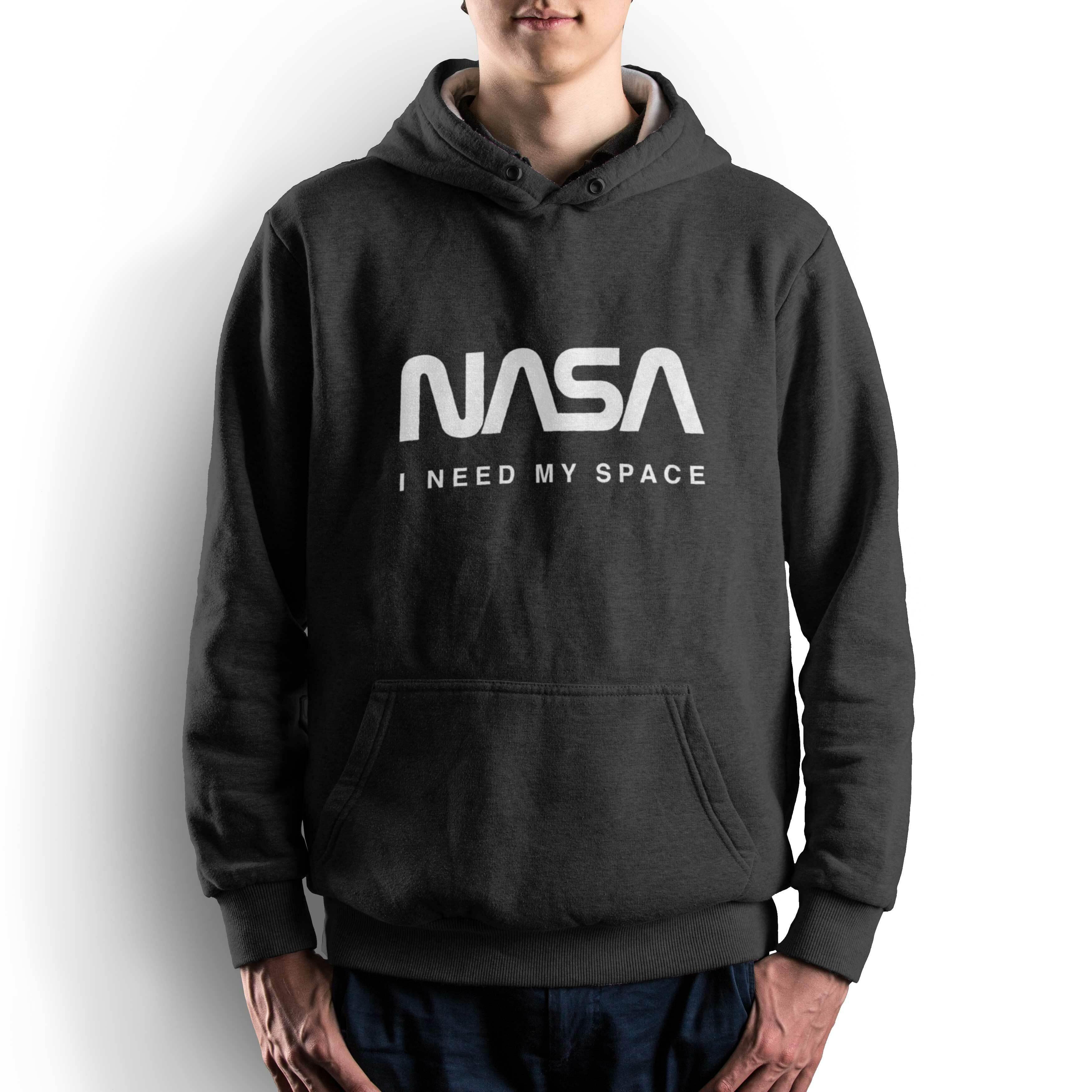 NASA公認(アメリカ航空宇宙局)・パーカー・JERZEES(ジャージーズ)ボディ・ロゴタイプ(ワーム)・ブラック