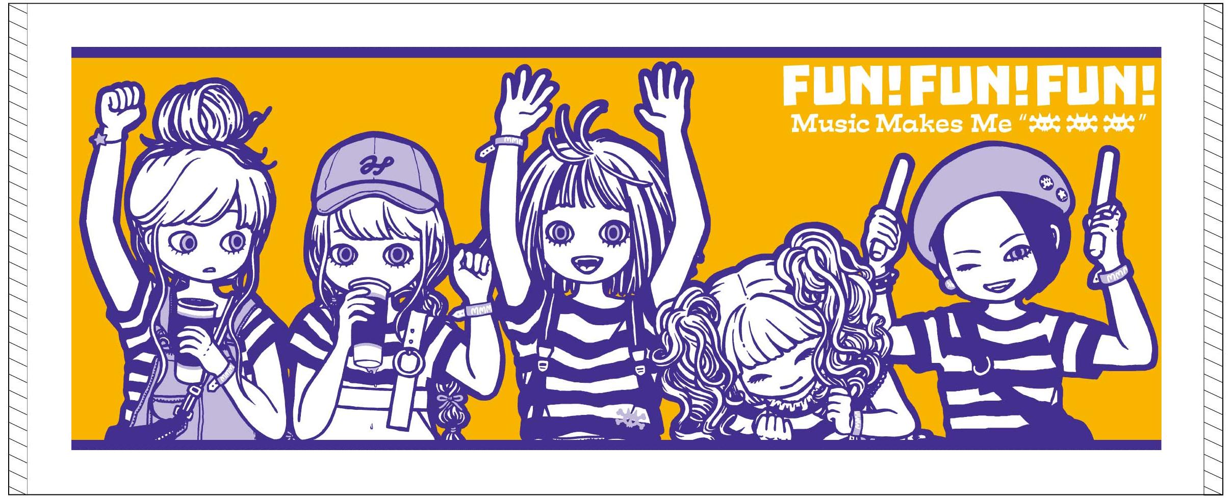 """MIKAZUKI / ミカヅキ  """" Music Makes Me xxx """"  フェイスタオル [ FT-015 ]"""