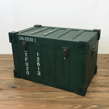コンテナ型トランクケースM  インダストリアル・アンティーク調・収納家具