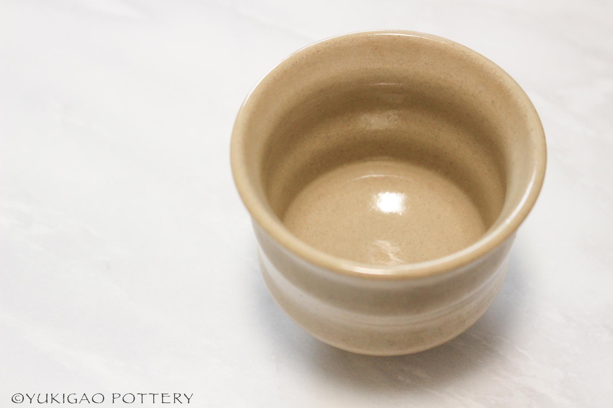 ぐいぐい呑み -浅黄-【陶器/容量80ml/受注生産】