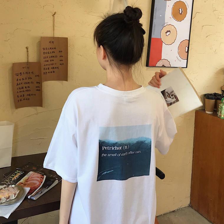 【送料無料】 旬シルエット♡ゆるだぼ カジュアル メンズライク オーバーサイズ ビッグシルエット バックプリント Tシャツ