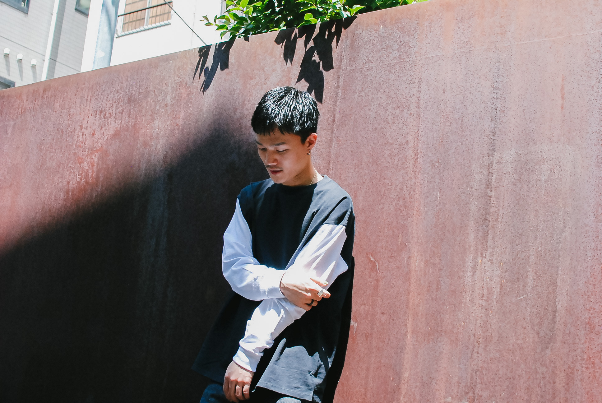 LIMITED【UNISEX】Two Tone  Long Sleeve
