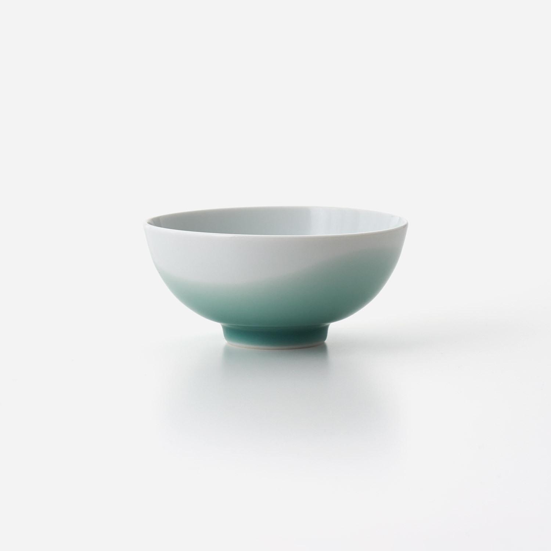 青磁波 飯碗(小)