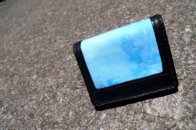 TYE DYE LEATHER BUSSINESS CARD CASE