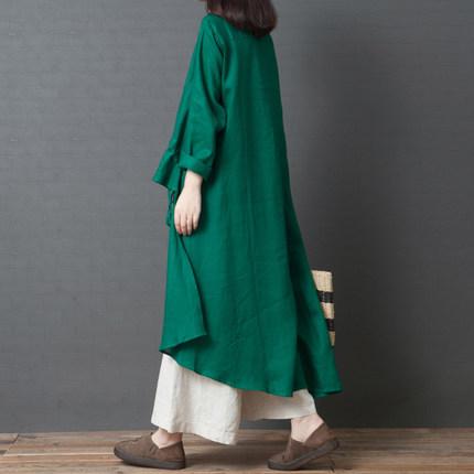 【ワンピース】配色ロング気質人気カジュアルワンピース14929913