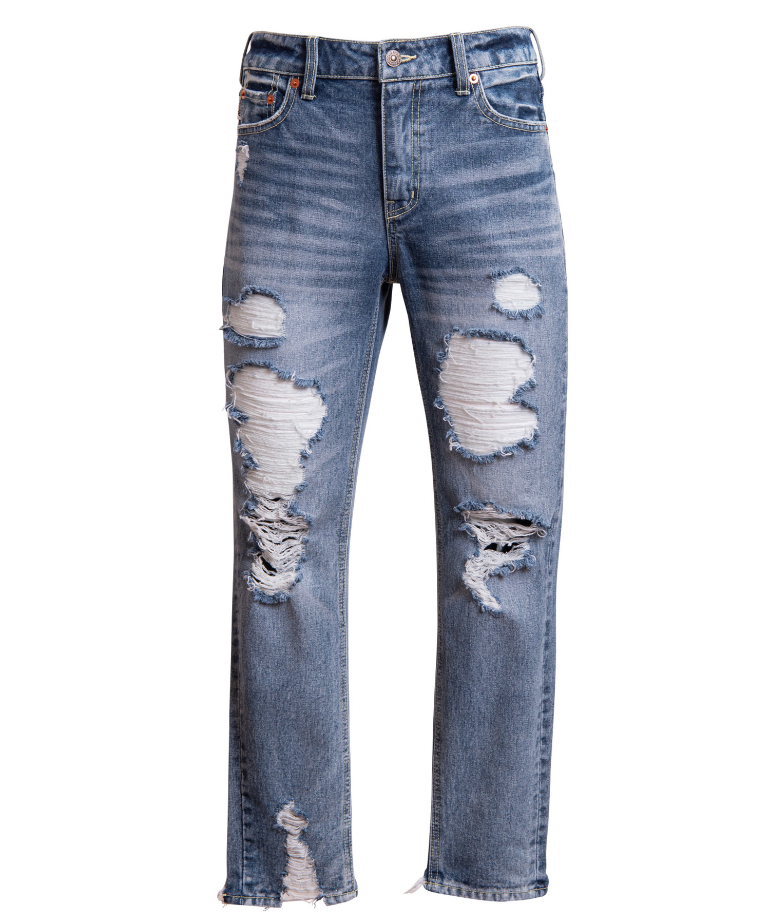 VINTAGE CRASH SLIM FIT STRAIGHT DENIM[REP053]