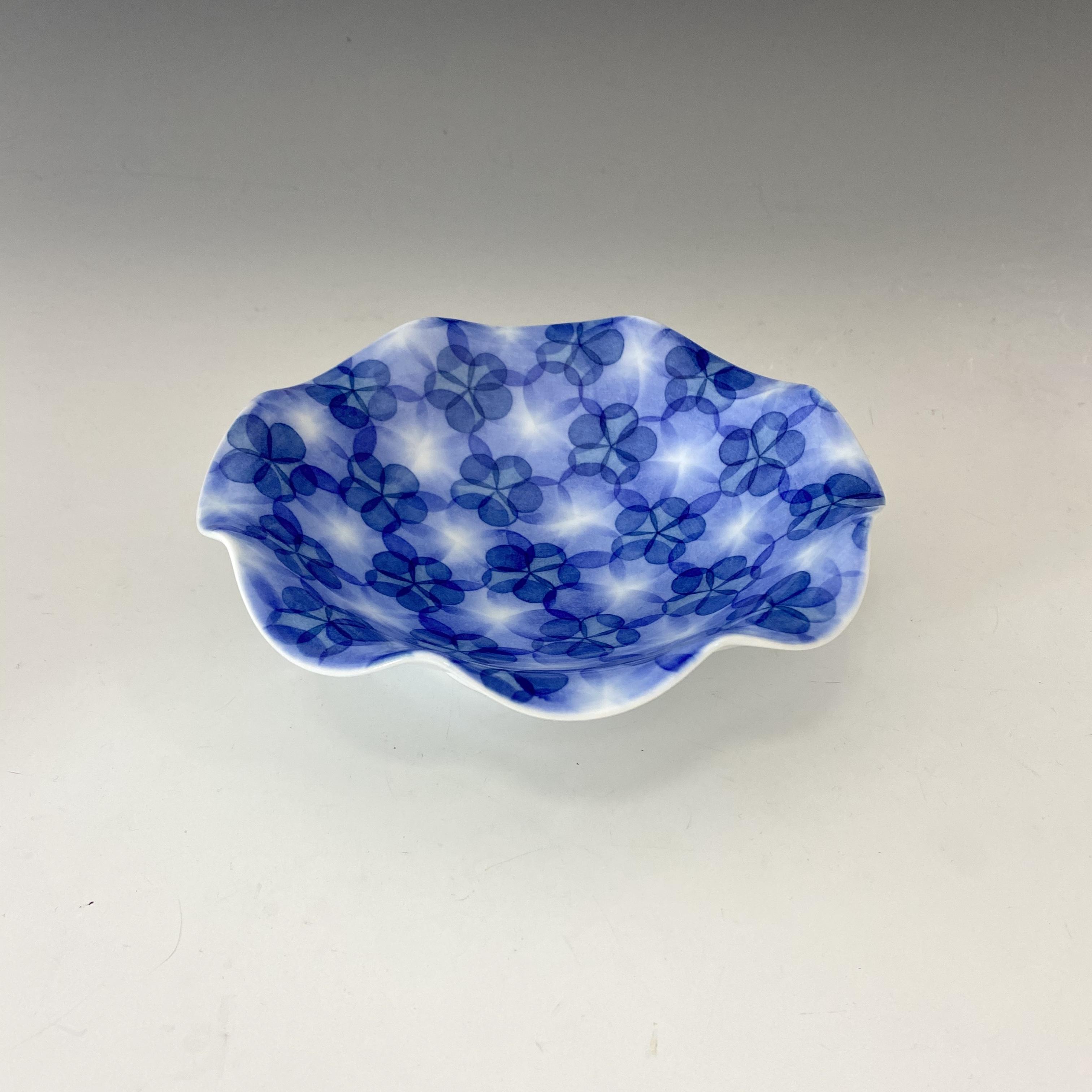 【中尾英純】和紙染花文ビラ鉢