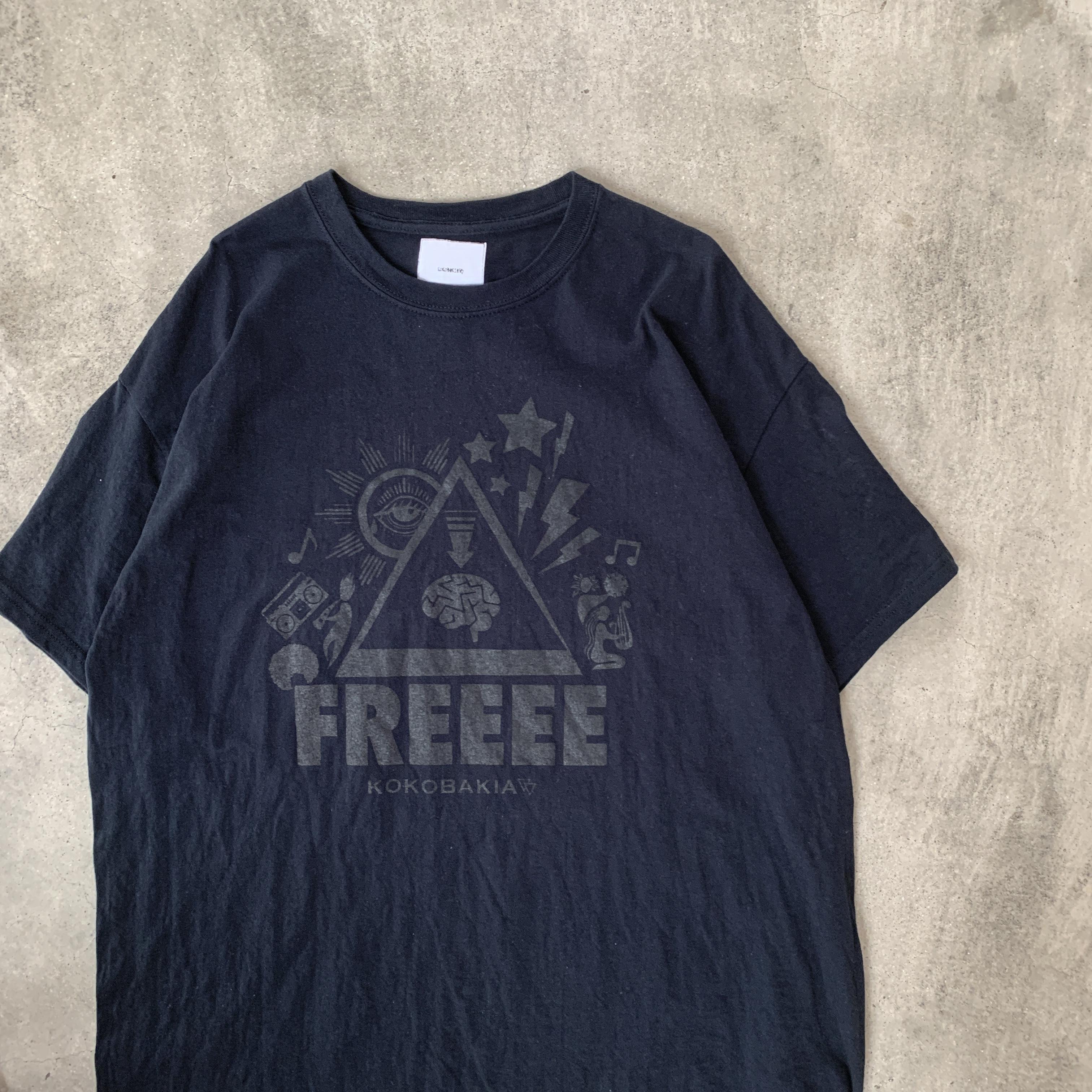 半袖 Tシャツ 復刻 FREEEE イラストTシャツ ブラック